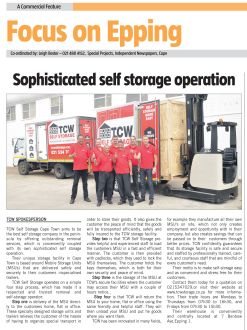 TCW Self Storage Cape Argus Feature
